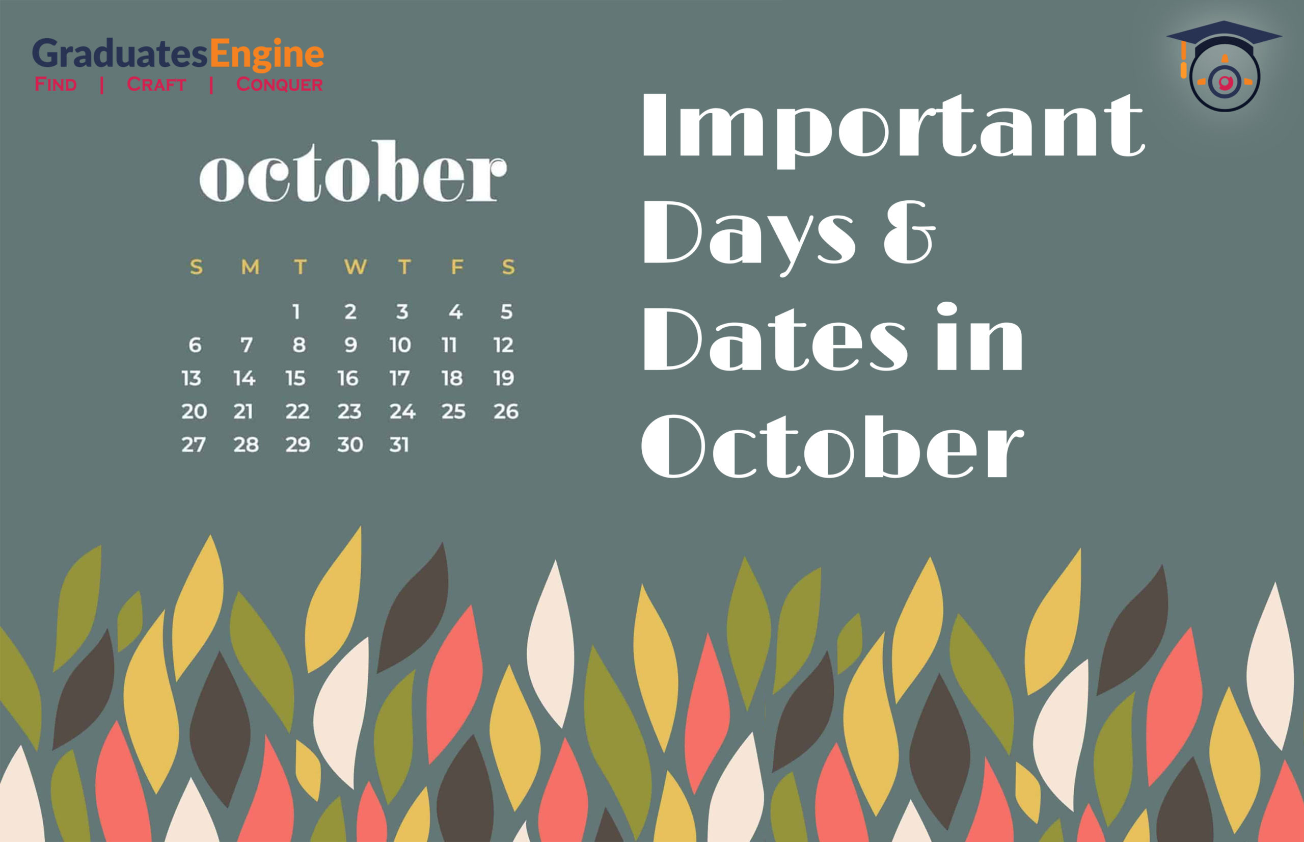 Important Days And Dates In October 2021