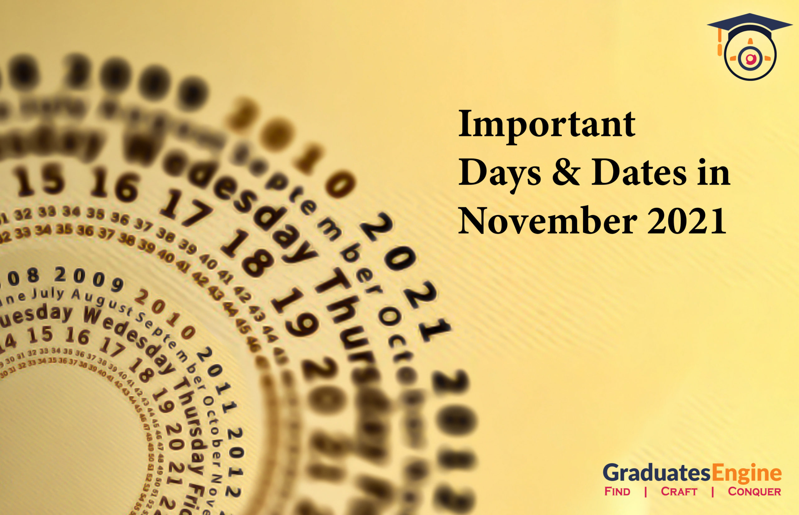 Important Days And Dates In November 2021