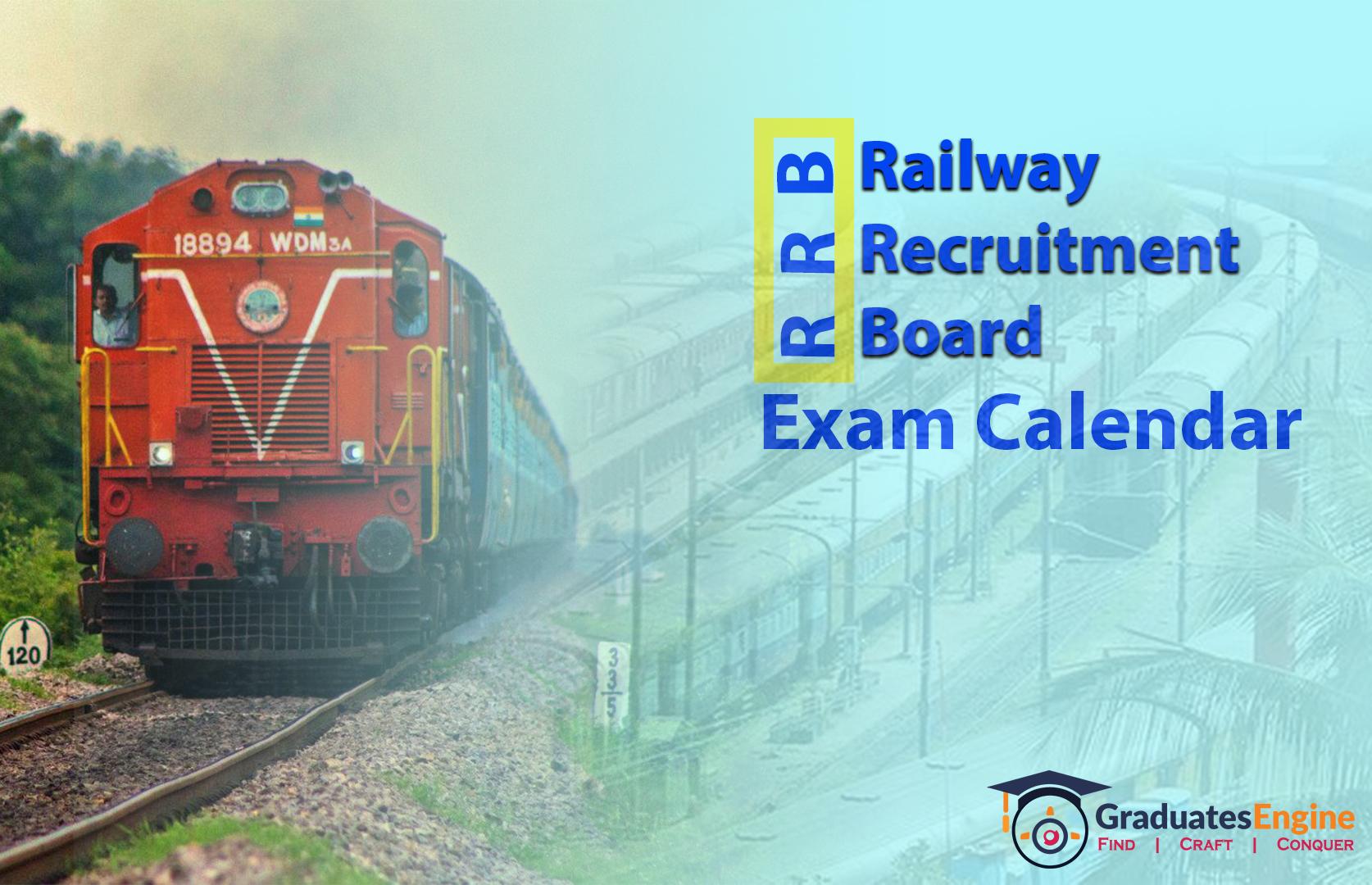 RRB Exam calendar