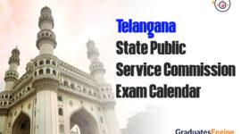 Telangana State Public Service Commission -TSPSC | Exam Calendar