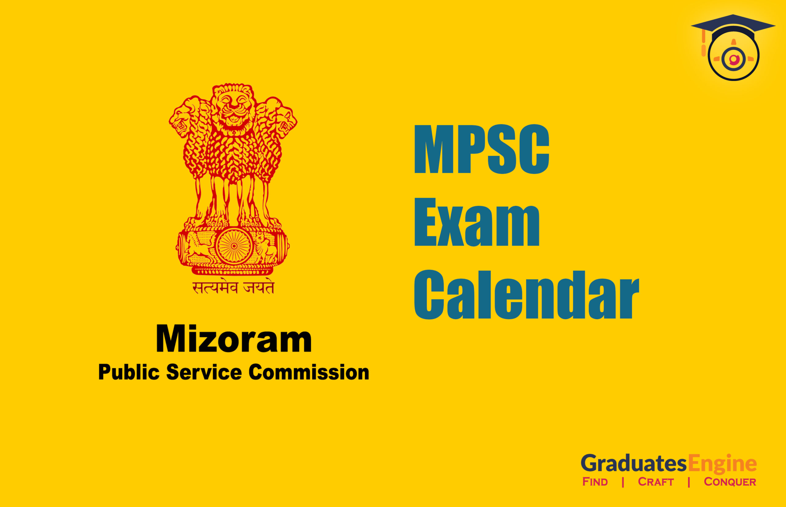 Mizoram Public Service Commission – MPSC | Exam Calendar