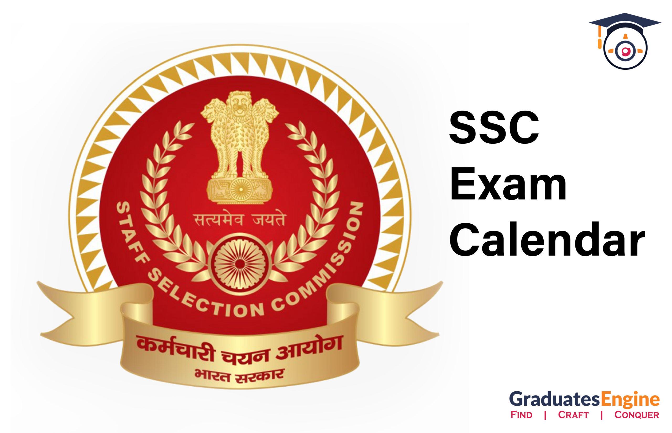 SSB Exam Calendar